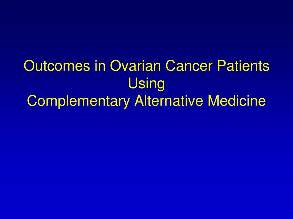 Outcomes in Ovarian Cancer Patients