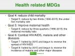 health related mdgs
