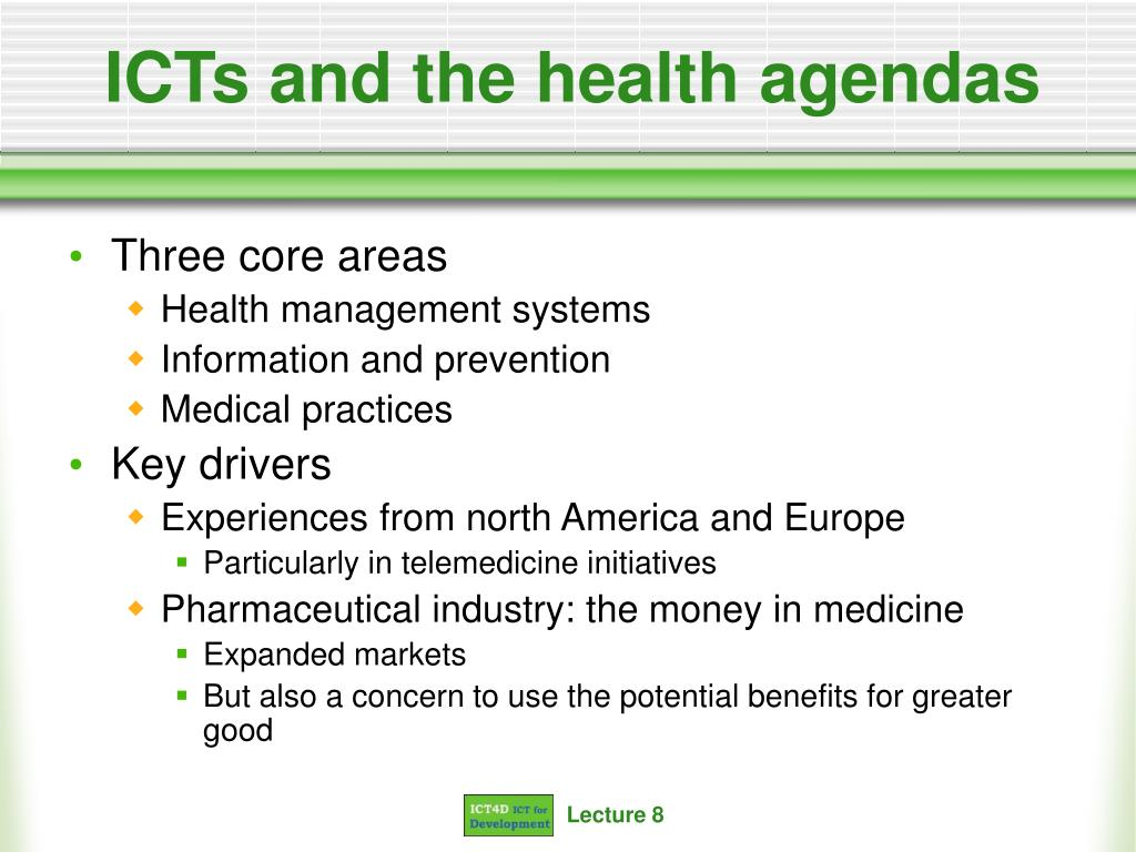 ICTs and the health agendas