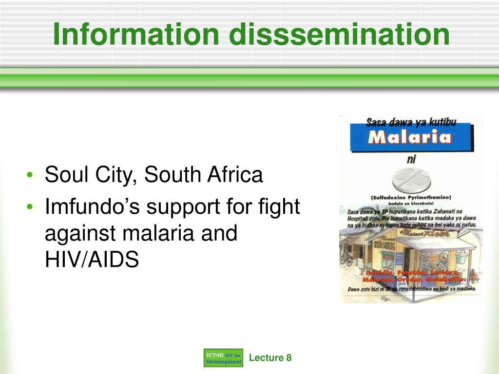 Information disssemination