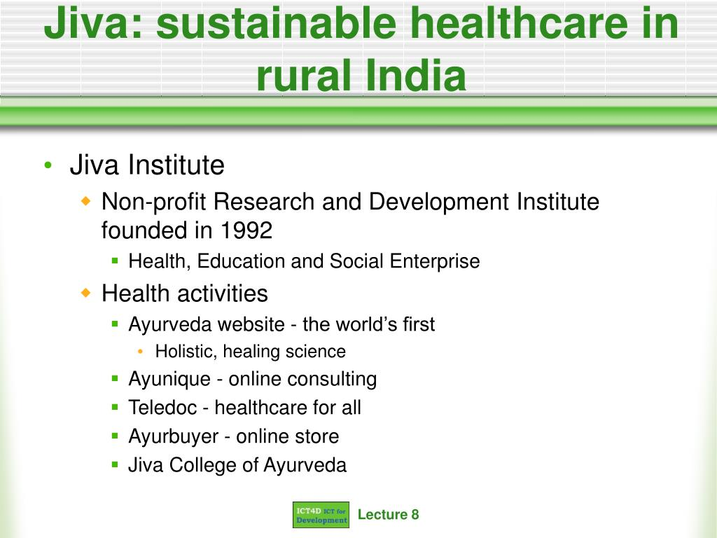 Jiva: sustainable healthcare in rural India
