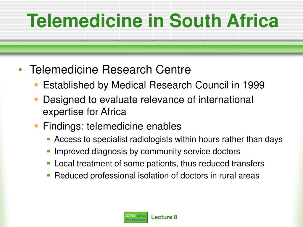 Telemedicine in South Africa
