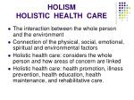 holism holistic health care