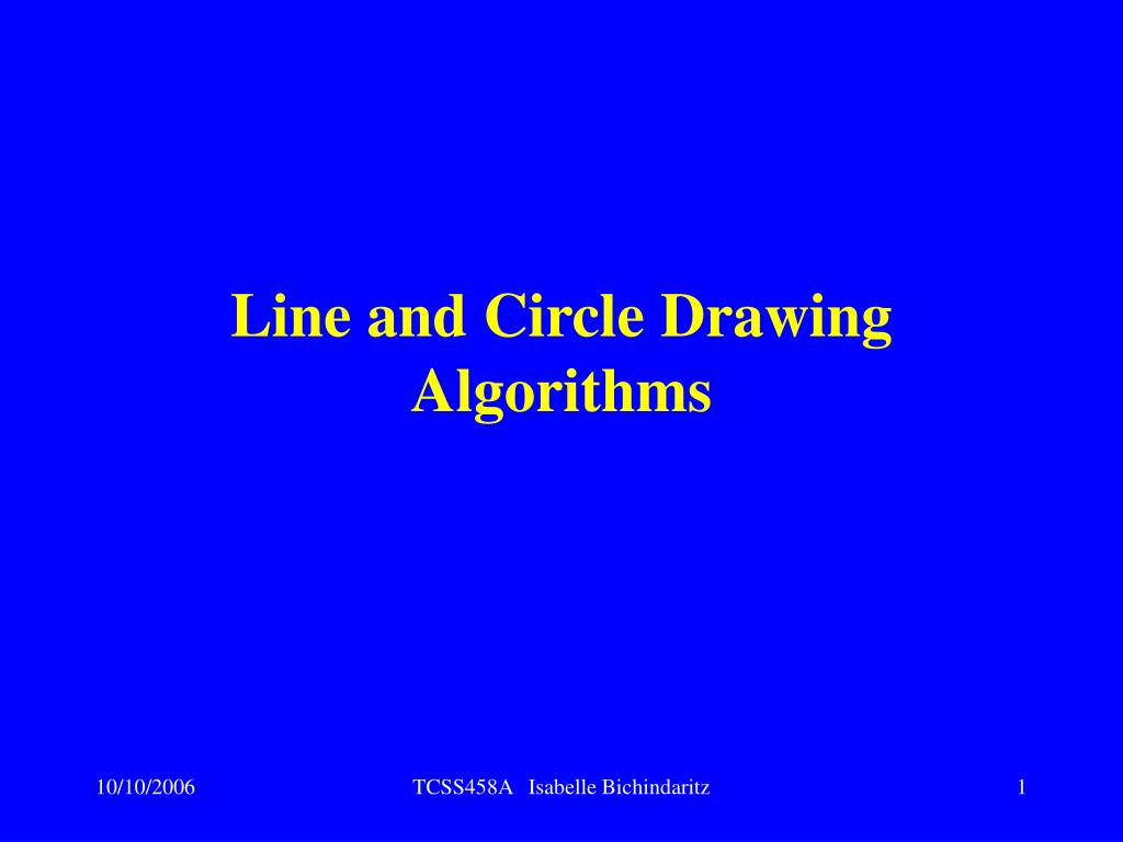 line and circle drawing algorithms l.