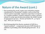nature of the award cont27