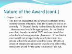 nature of the award cont41