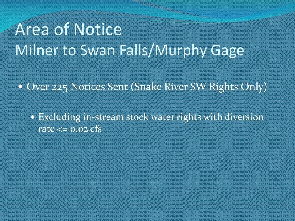 Area of Notice