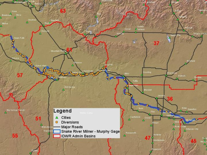 Water district creation for snake river water rights basin 02 milner to swan falls