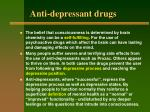 anti depressant drugs