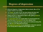 degrees of depression