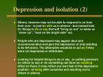 depression and isolation 2