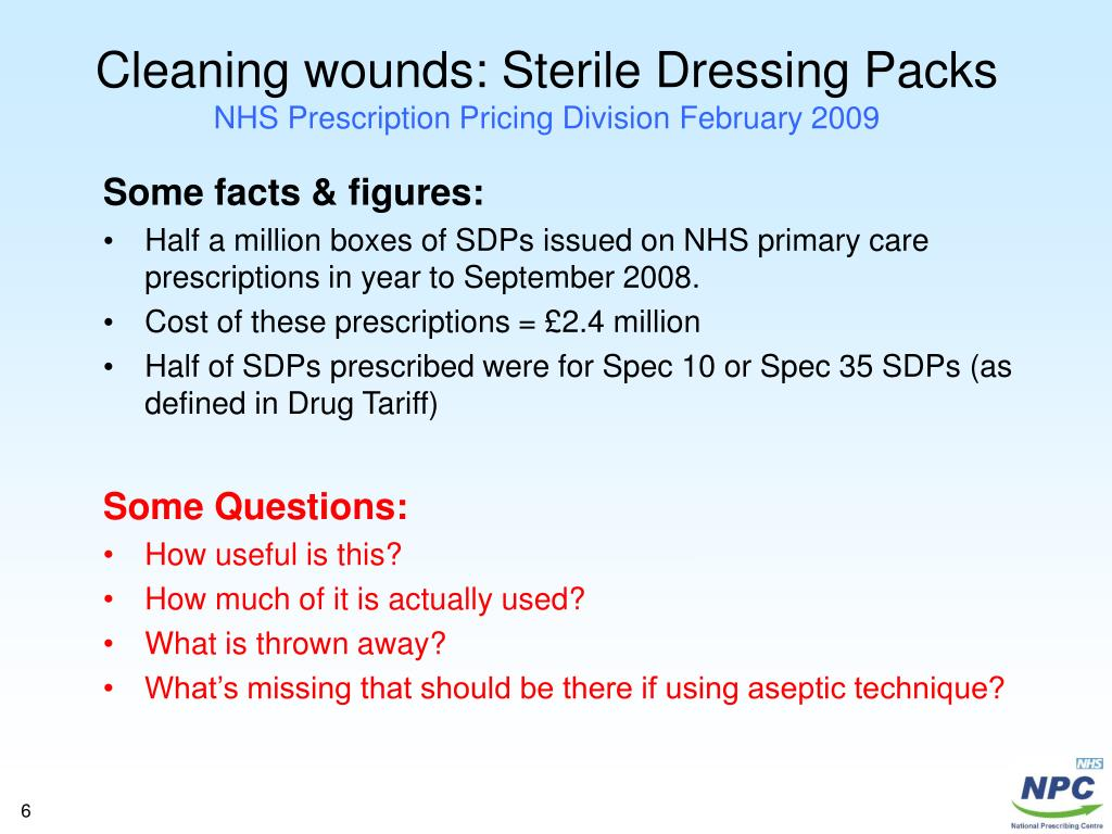 aseptic technique in wound dressing