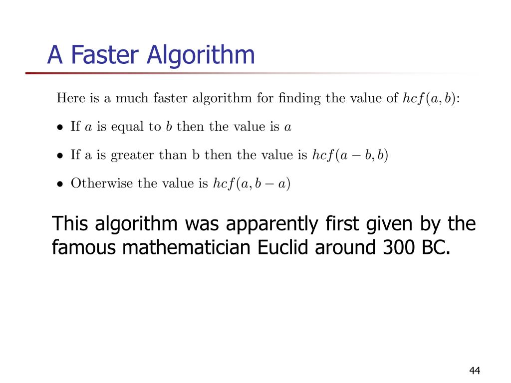 A Faster Algorithm
