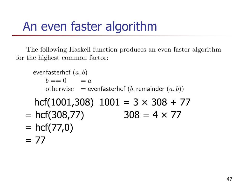 An even faster algorithm