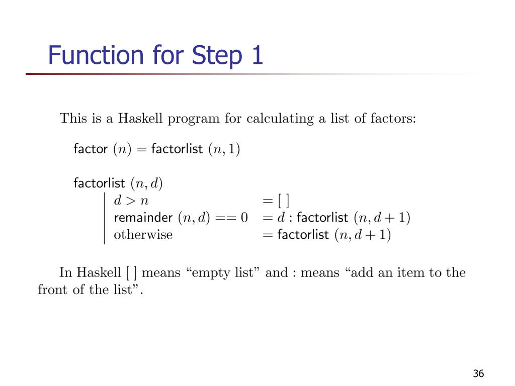 Function for Step 1