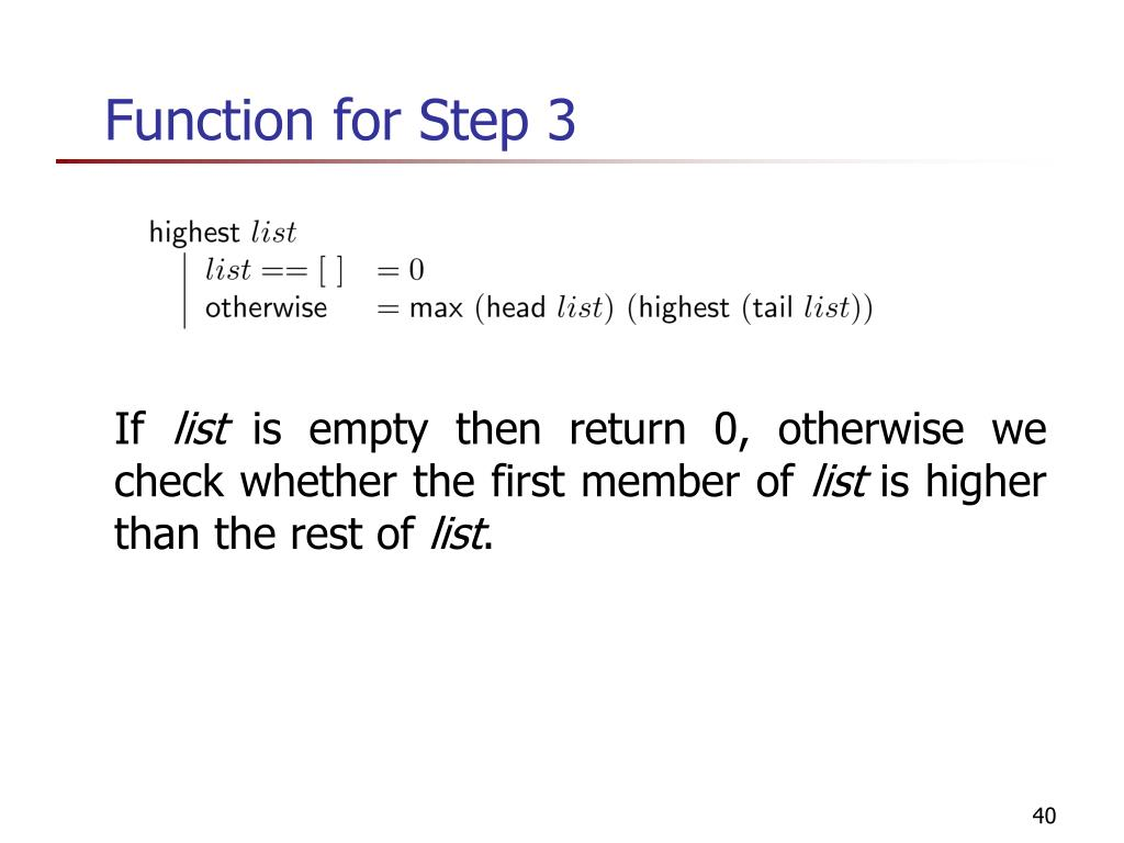 Function for Step 3