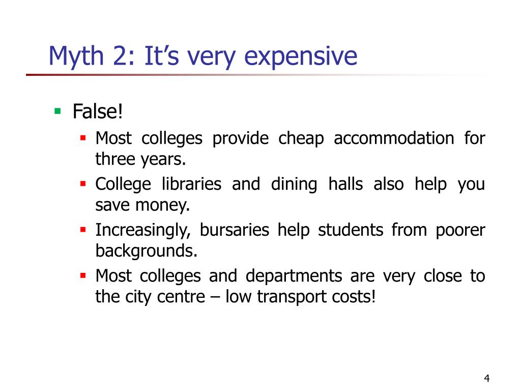 Myth 2: It's very expensive