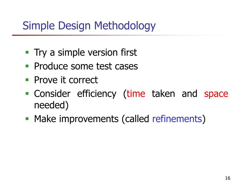 Simple Design Methodology