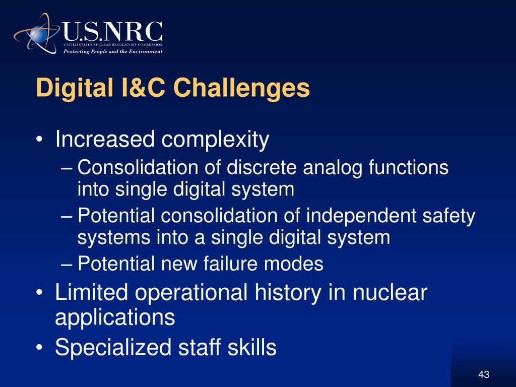 Digital I&C Challenges