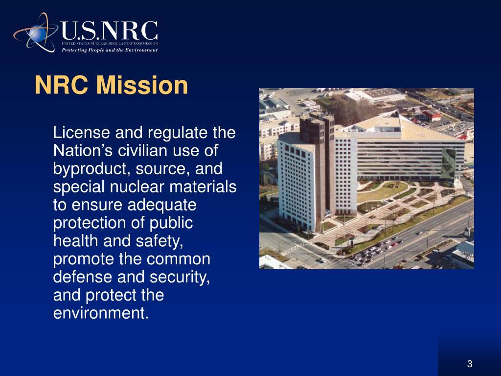 NRC Mission