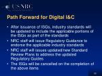 path forward for digital i c