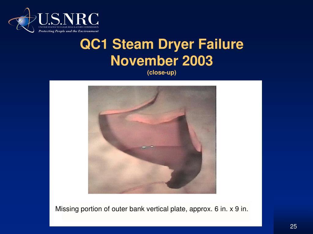QC1 Steam Dryer Failure