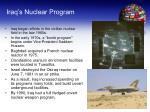iraq s nuclear program