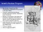 israel s nuclear program