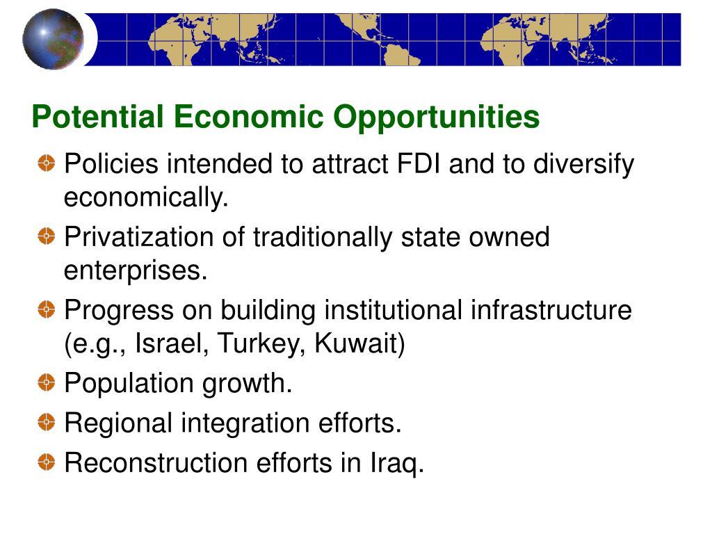 Potential Economic Opportunities