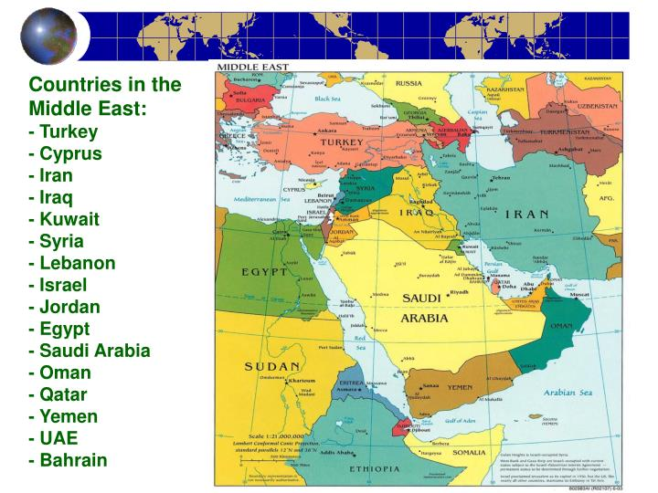 Countries in the Middle East: