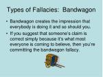 types of fallacies bandwagon