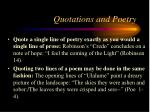 quotations and poetry