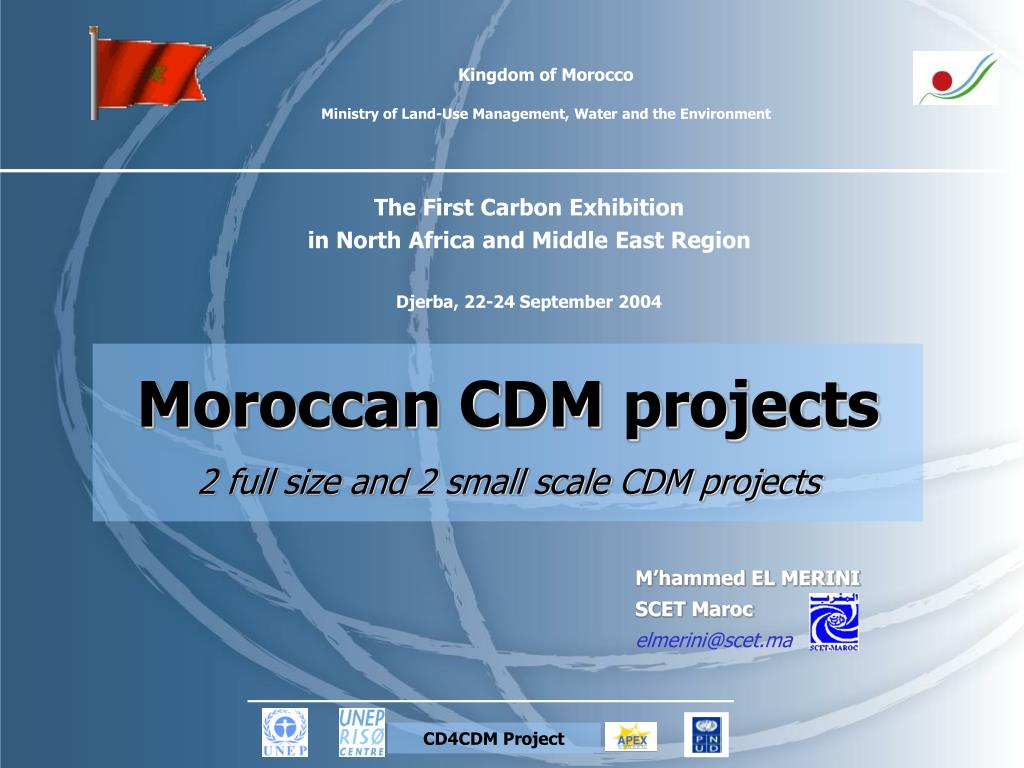 kingdom of morocco ministry of land use management water and the environment