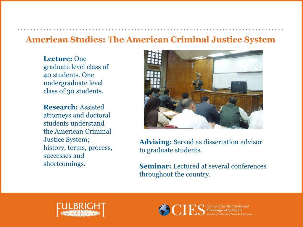 American Studies: The American Criminal Justice System