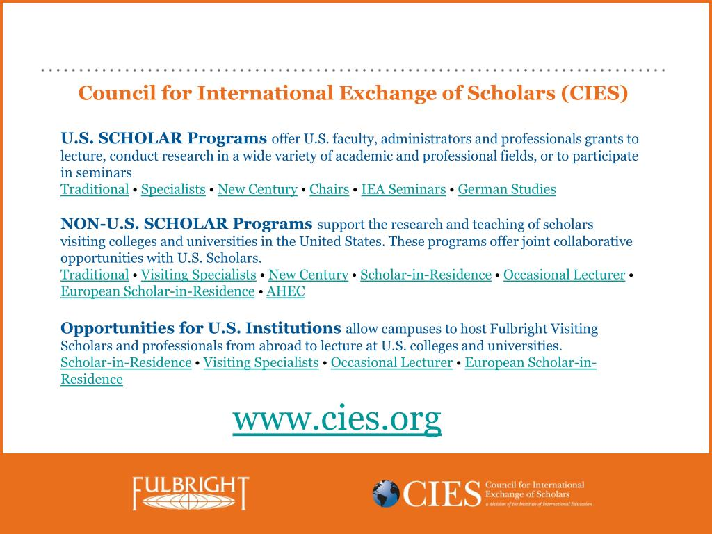 Council for International Exchange of Scholars (CIES)