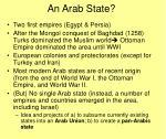 an arab state