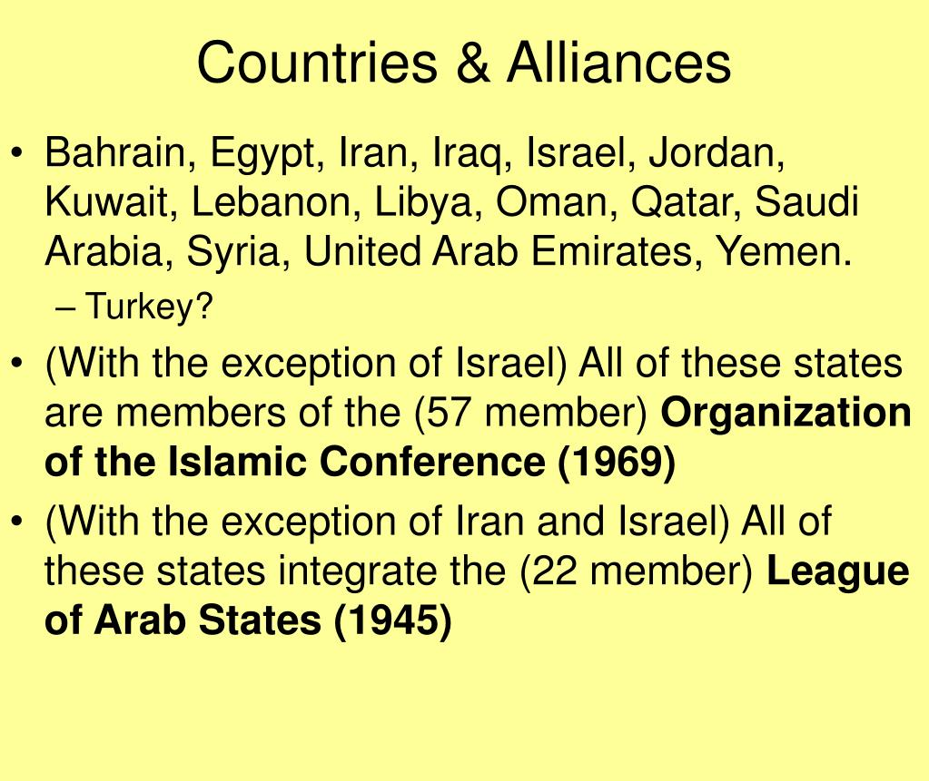 Countries & Alliances