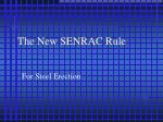 the new senrac rule