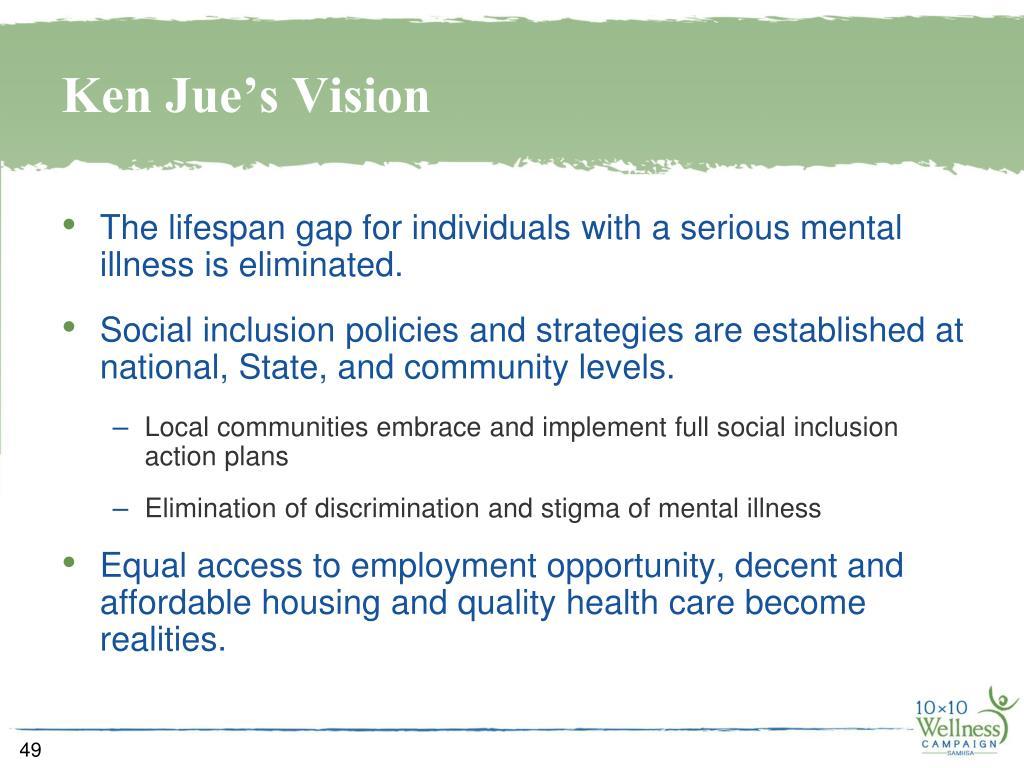 Ken Jue's Vision