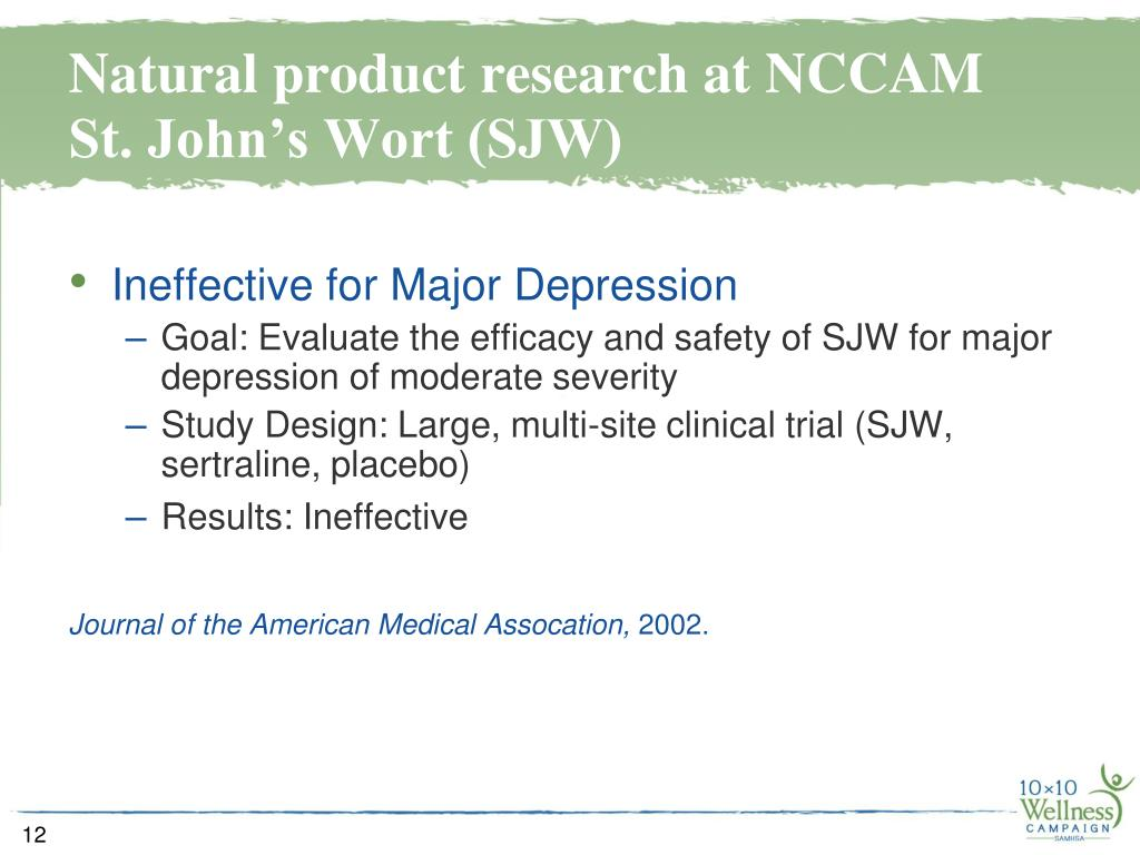 Natural product research at NCCAM