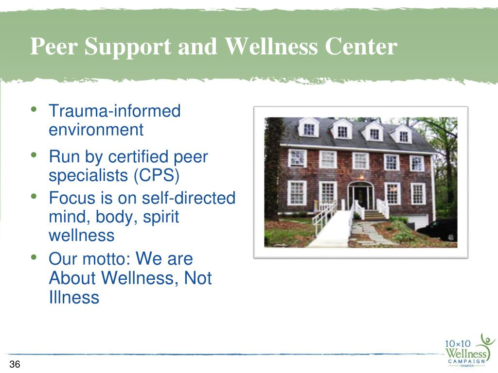 Peer Support and Wellness Center