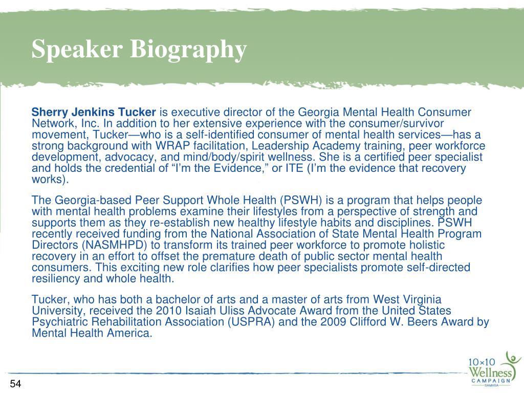 Speaker Biography