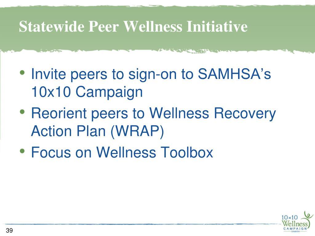Statewide Peer Wellness Initiative