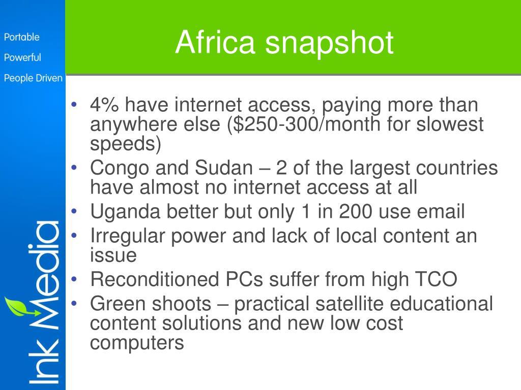 Africa snapshot