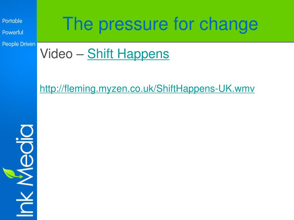 The pressure for change