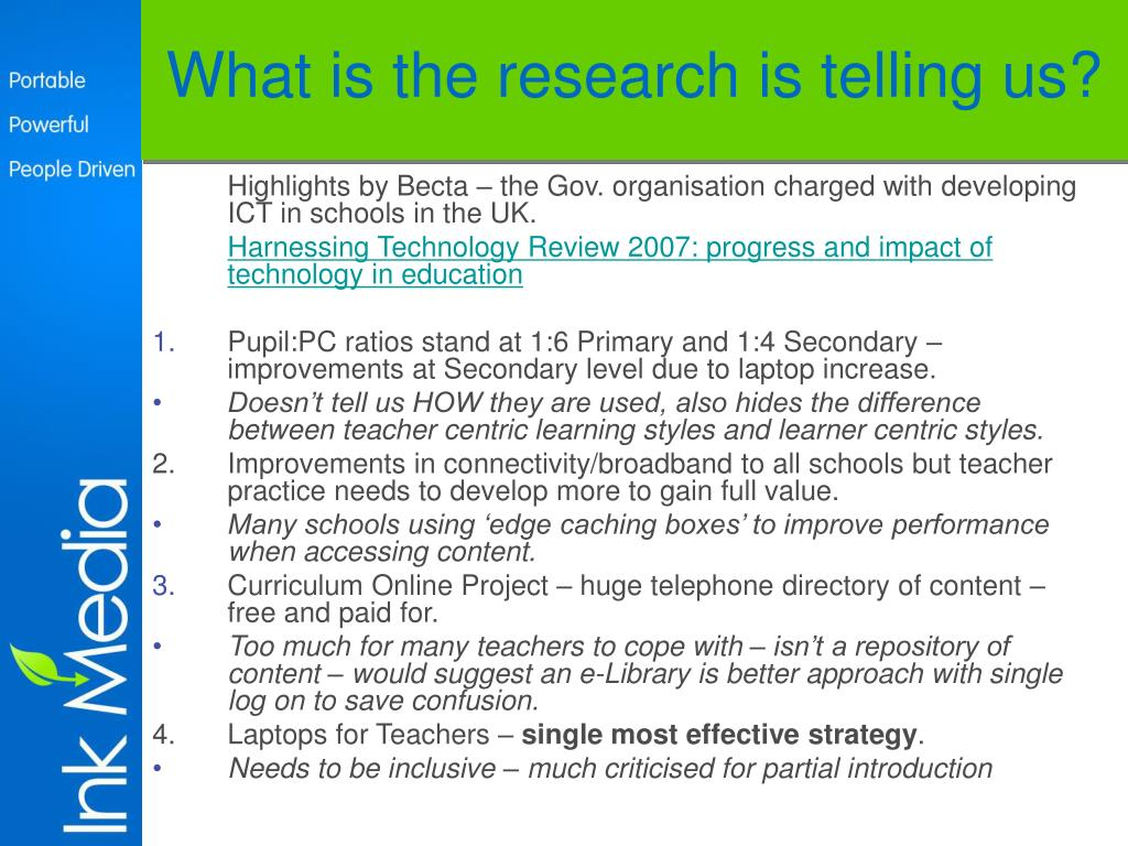 What is the research is telling us?