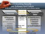 embedding security into software and culture