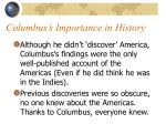 columbus s importance in history