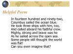 helpful poem