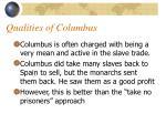 qualities of columbus
